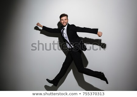 handsome successful business man in suit full lenth stock photo © get4net