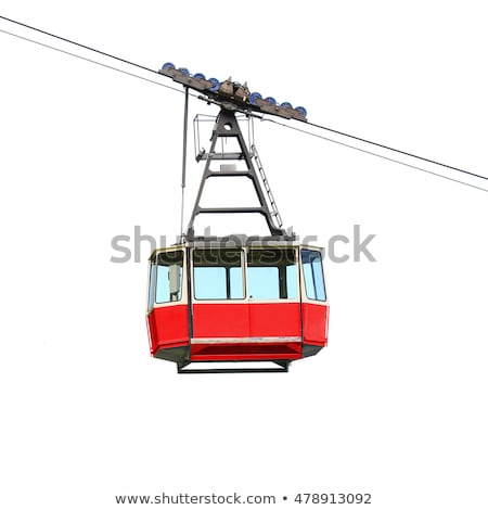 old red cable car stock photo © kyolshin
