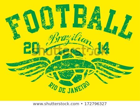 Гранж лавры венок баннер футбольным мячом Футбол Сток-фото © squarelogo