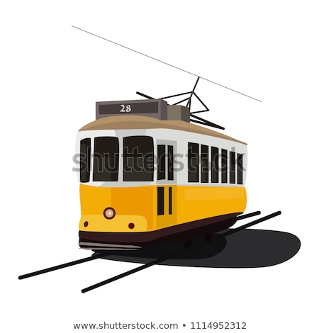 City transport. Vintage tram style. Vector illustration Stock photo © leonido
