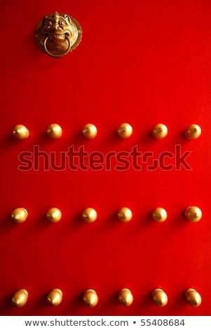 Czerwony złota odizolowany biały Zdjęcia stock © sarahdoow