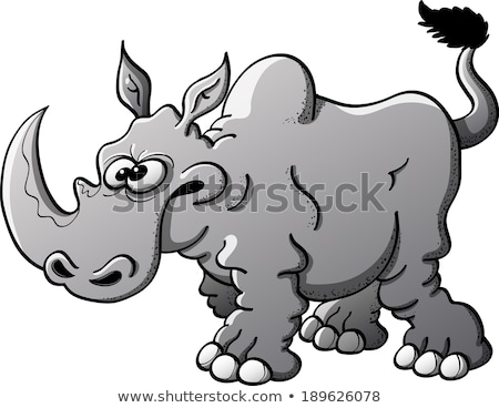 Rhinoceros is angry and prepeared for attack Stock photo © vetdoctor