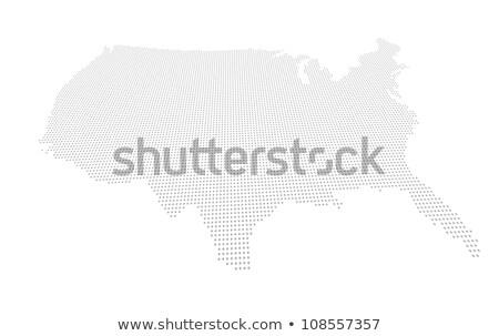 Vervormd kaart USA punt grid ontwerp Stockfoto © Zerbor
