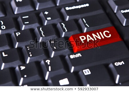 panic button on computer keyboard stock photo © iqoncept