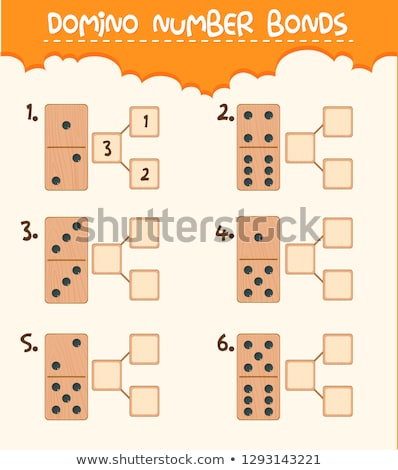 Domino английский алфавит письма белый Сток-фото © stoonn