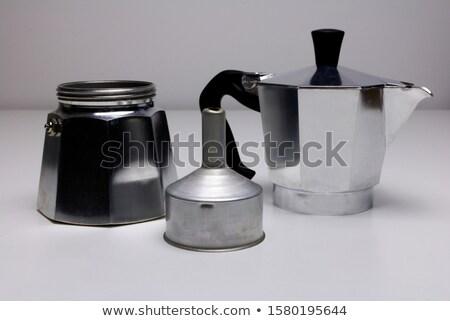 Shot Italiaans koffiezetapparaat kachel artistiek Stockfoto © Elisanth