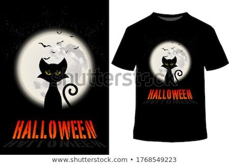 ház · vámpír · halloween · éjszaka · démoni · ajtó - stock fotó © carodi