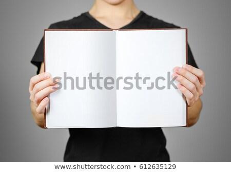 fiatal · srác · olvas · könyv · magazin · saját · terv - stock fotó © 805promo