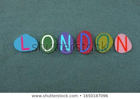 Foto stock: Londres · pintado · areia · lata · usado · cidade