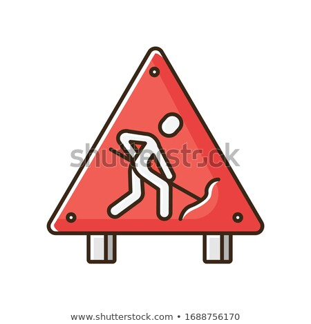 construction worker with colorful signpost stock photo © kirill_m