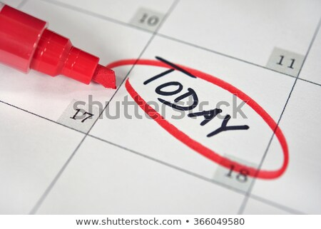 calendar with a date circled in marker stock photo © inxti