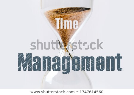 Stock photo: Time is Over, Hour glass on the gray