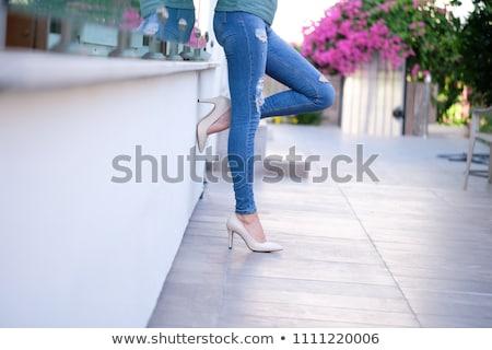 Beautiful leggy woman in stilettos Stock photo © stryjek