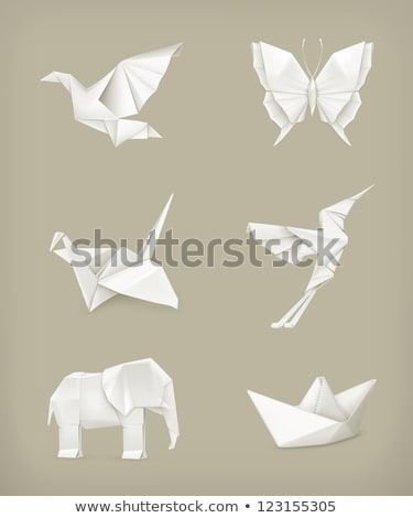 vector origami crane. eps10 stock photo © odes