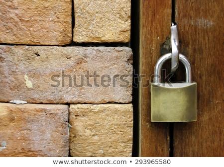 ржавые · металл · двери · блокировка · стены · текстуры - Сток-фото © lovleah