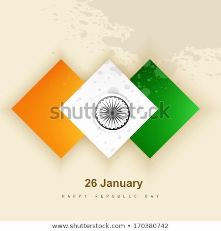 Indian vlag presentatie republiek dag mooie Stockfoto © bharat