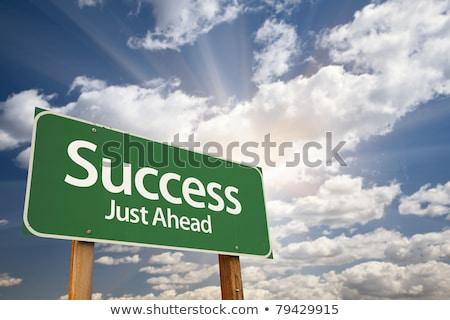 success just ahead on green billboard stock photo © tashatuvango