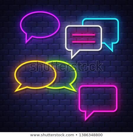 neon color speech bubbles Stock photo © burakowski