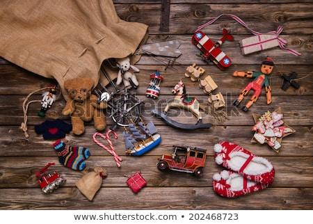 Navidad · avión · dibujado · a · mano · ilustración · cielo - foto stock © heliburcka