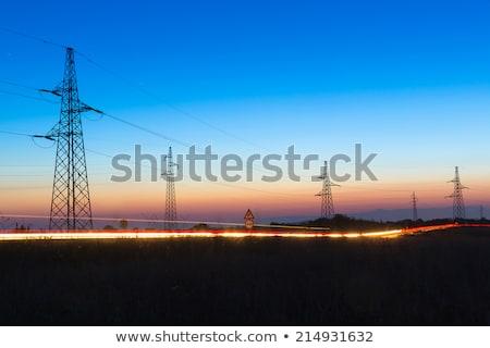 elektomos · transzformátor - stock fotó © meinzahn