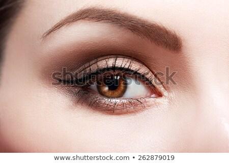 Mooie oog make-up vrouw oog gezicht Stockfoto © vlad_star
