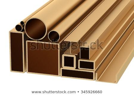 Stack of Rolled Metal Products Isolated on White. Stock photo © tashatuvango