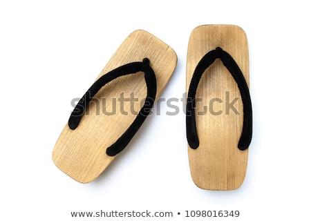 Japoński sandały pary moda domu Zdjęcia stock © songbird
