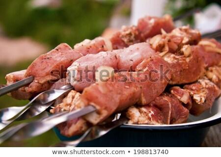 Mariné viande prêt grill alimentaire rouge Photo stock © phila54