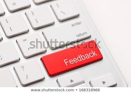 Feedback on Red Keyboard Button. Stock photo © tashatuvango