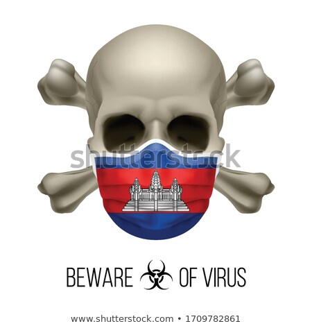 Cambodian flag skull Stock photo © dvarg