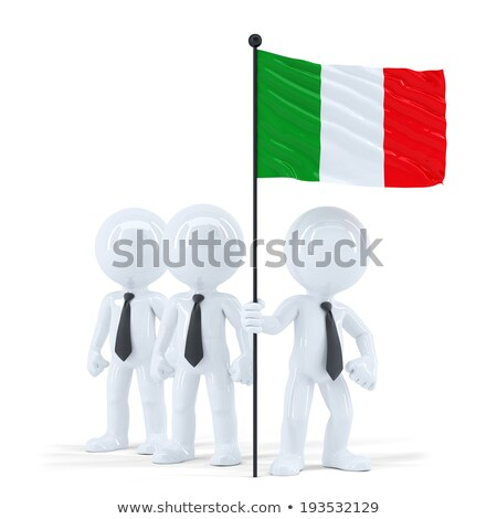 business team holding flag of italy isolated contains clipping path stock photo © kirill_m
