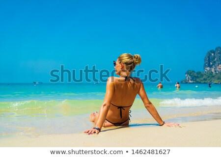 Playa krabi Tailandia vacaciones turísticos lugar Foto stock © sundaemorning