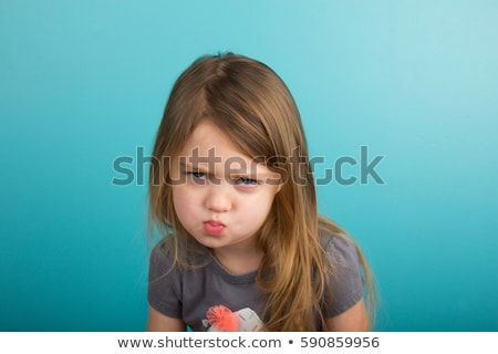 Cute little girl with a sad pouting expression Stock photo © mlyman