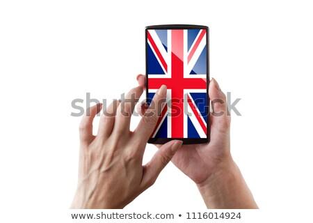 Bandeira país de gales telefone internet telefone Foto stock © vepar5