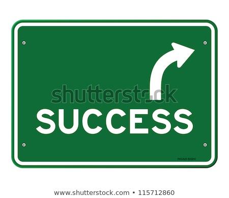 achievement on green highway signpost stock photo © tashatuvango