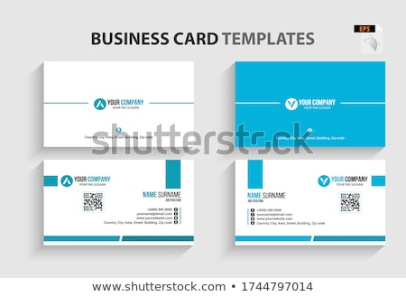 Modern simple business card template with big name Stock photo © orson