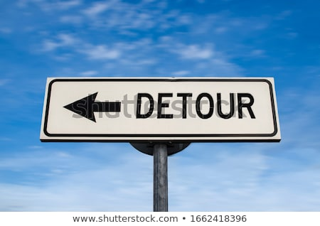 Detour signs on the road Stock photo © Aikon