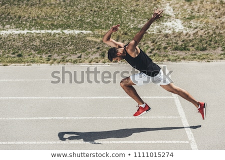 Stock fotó: Kezdet · pozició · útvonal · jogging · sport · nő