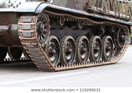 Tırtıl tank soyut teknoloji yeşil Stok fotoğraf © mycola