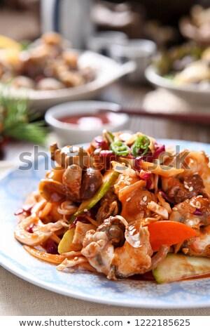 Clam alimentaire bois fond fruits de mer ingrédient Photo stock © M-studio