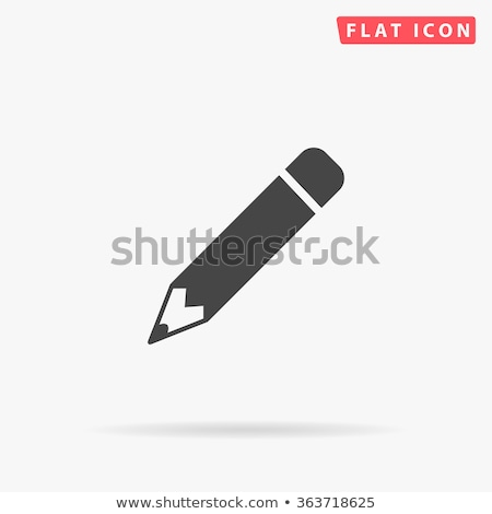 Pencil icon on black button Stock photo © aliaksandra