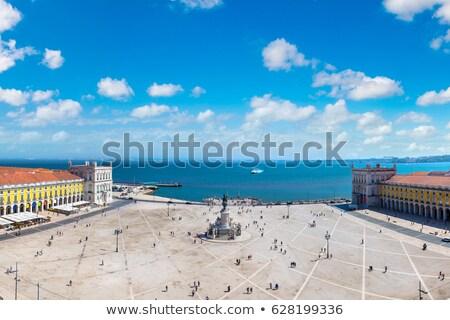 commerce · vierkante · Lissabon · Portugal · landschap · Blauw - stockfoto © elxeneize