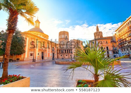 Stad Valencia Spanje foto laat zomer Stockfoto © Dermot68