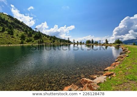 trentino   small lake in pejo valley stock photo © antonio-s