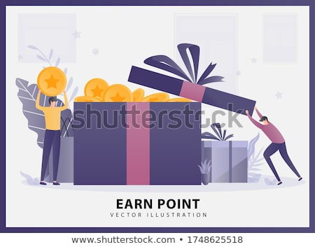 Dinero caja de regalo libra billetes oro seda Foto stock © unikpix