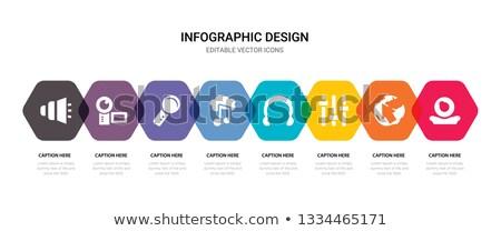 Blauw kaart spreker volume icon business Stockfoto © aliaksandra