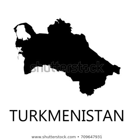 Silhueta mapa Turcomenistão assinar branco Foto stock © mayboro