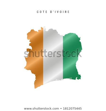 silhouette map of Ivory Coast Stock photo © mayboro