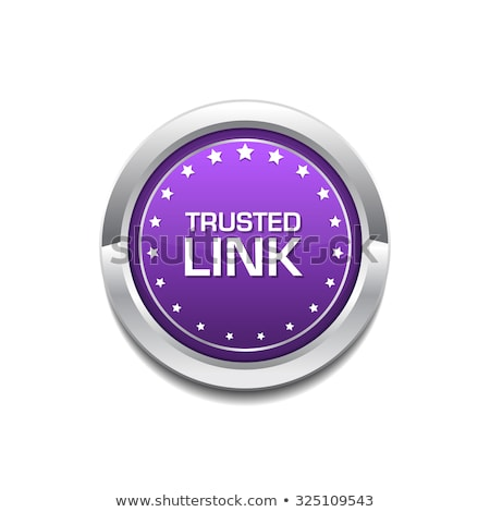 Trusted Link Purple Circular Vector Button Stock photo © rizwanali3d