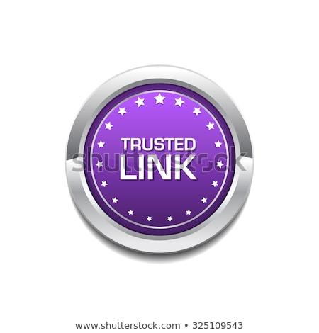 trusted link purple circular vector button stock photo © rizwanali3d